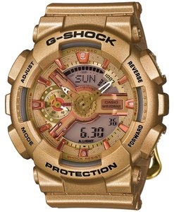 Casio New Casio G-Shock S Series Analog Digital Gold Resin Men's Watch GMAS110GD-4A