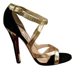 Jimmy Choo Black/Gold Sandals
