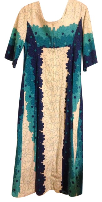 Blue None Long Casual Maxi Dress Size 8 (M) Blue None Long Casual Maxi Dress Size 8 (M) Image 1