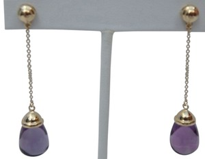 Tiffany & Co. Tiffany & Co Paloma Picasso 18K Yellow Gold Drop Earrings with 20 carat Amethyst