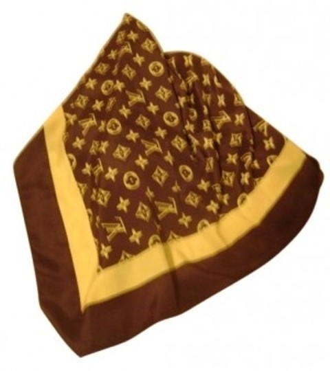 Preload https://item5.tradesy.com/images/louis-vuitton-browngold-scarfwrap-14234-0-0.jpg?width=440&height=440