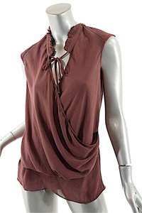 Helmut Lang Leather Top Wine
