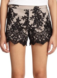 Alice + Olivia And High Waist Mini/Short Shorts Black