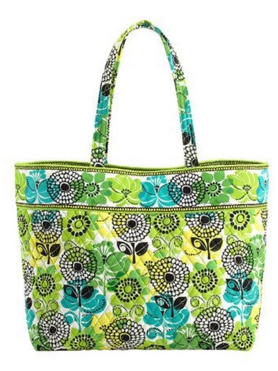 Vera Bradley Grand Extra Large Large Carry On Travel Luggage Holiday Gift Retired Pattern Christmas Gift Christmas Tote in Lime's Up