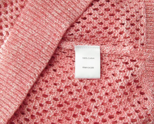 Garnet Hill Coral Mesh Cotton New Without Tags Tunic Sweater