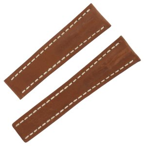 Breitling Breitling 440X 24-20mm Genuine Leather Brown Unisex Watch Band (12653)