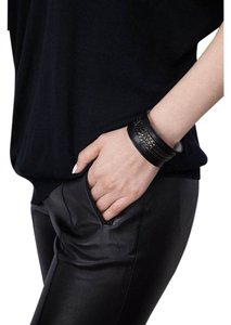 Condemned to Be Free Concave Lambskin Chain Cuff