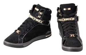 Michael Kors Suede/patent High Tops Studded Black Athletic