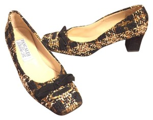 Pancaldi Black/Gold/Tan Pumps