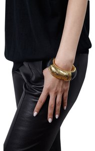Condemned to Be Free Gilded Horn Bangle