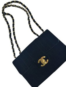 Chanel Vintage Jumbo Gold Shoulder Bag