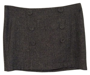 Forever 21 21 Tweed Skirt Dark Gray