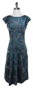 Marc Jacobs short dress Blue Floral Silk on Tradesy
