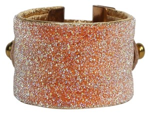 Condemned to Be Free Swarovski Crystal Beaded Leather Cuff