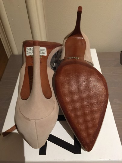 SCHUTZ Nude, gold and clear Pumps