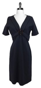 Gucci short dress Navy blue Rayon Viscose on Tradesy