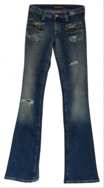 Preload https://item2.tradesy.com/images/hudson-medium-blue-distressed-flare-leg-jeans-size-24-0-xs-142361-0-0.jpg?width=400&height=650