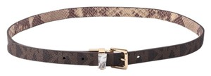 Michael Kors * Michael Kors Monogram Snakeskin Revisable Belt Medium