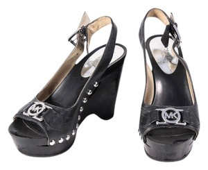 Michael Kors Slingback Leather black Wedges