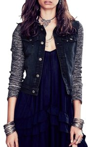 Free People Pumice Black Womens Jean Jacket
