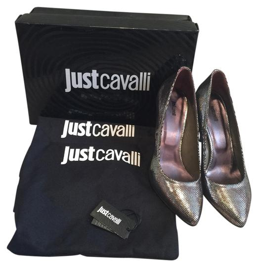 Just Cavalli Sexy Dressy Metallic Pumps