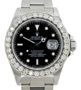 Rolex MEN'S ROLEX SUBMARINER S/S DIAMOND BEZEL WATCH