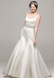 David's Bridal David's Bridal Satin Trumpet Wedding Dress Wedding Dress