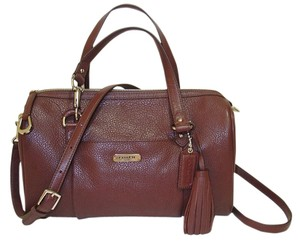 Coach Leather Satchel in Maroon
