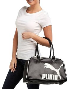 Puma Large Sports Hobo Handbag Satchel in Black