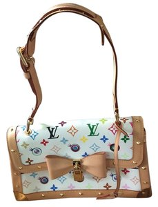 Louis Vuitton Eye Murakami White Shoulder Bag