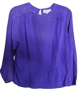 Argenti Silk Shirt Top Blue