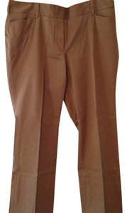 Lands' End Jeans Brushed Denim Straight Pants Light Brown