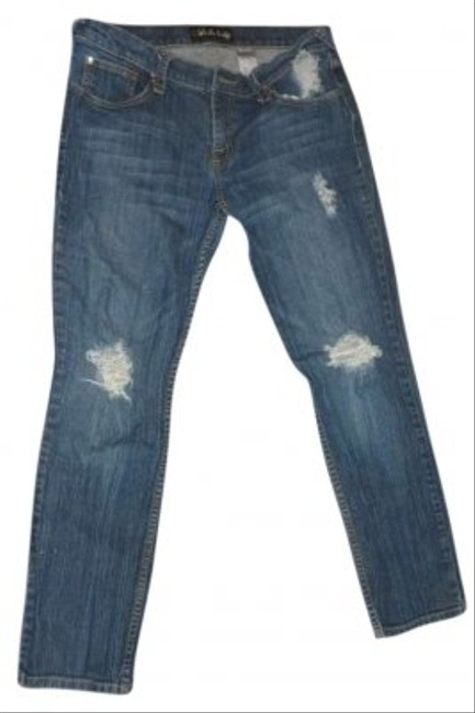 """Fabulosity Fabulous Stretch 281/2"""" Inseam 32"""" Waist (16"""" Laying Flat) Note My Sizes Are Exact 8"""" Rise Boot Cut Jeans-Medium Wash"""