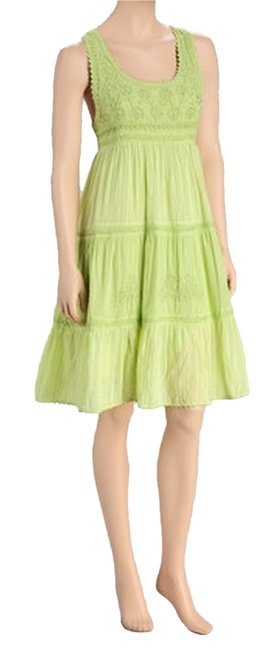 Other short dress Green Embroidered Shift Medium Chartreuse on Tradesy