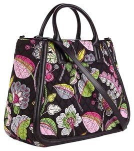 Vera Bradley Overnighter Satchel Tote Cross Body Bag