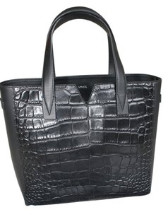 Vince Crocodile Brand New Tote in Black