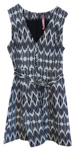 Plenty by Tracy Reese short dress black and white Fit Flare on Tradesy