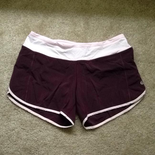Lululemon Maroon Light Pink Groovy Run Shorts Activewear Bottoms Size 6 S 28 Tradesy