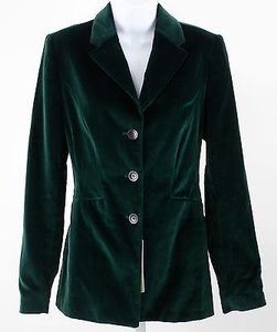 Bernardo Bernard Zins Lord Hunter Green Velveteen Button Blazer Lb