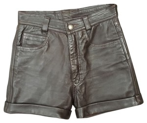 Camanchi Leathers Cuffed Shorts Brown
