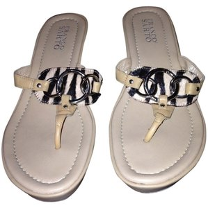 Franco Sarto Wedge Zebra Sandals