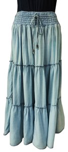 H&M Very Soft Skirt BLUE