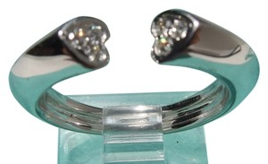 Tiffany & Co. Auth. Tiffany & Co 18Kt Paloma Picasso Tenderness 2 Heart Diamond Ring Sz 6