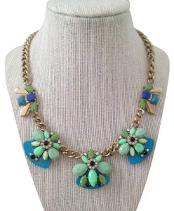 J.Crew J.Crew Blue and Seafoam Green Cluster Necklace