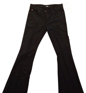 Hudson Jeans Lightweight Linen Brand New Tags Attached Cotton Flare Leg Jeans-Dark Rinse