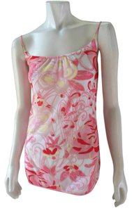 On Gossamer Sheer Lined Sleeveless Cami Top White Pink