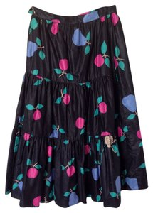 Evelyn De Jonge Skirt Black/Multi Bright