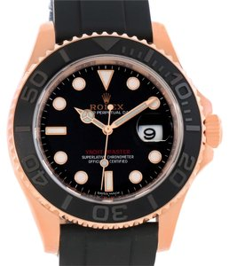 Rolex Rolex Yachtmaster 37 18K Everose Gold Rubber Strap Watch 116665 Unworn