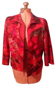 Chico's Silk Blend Multi- Color Size 1 Jacket