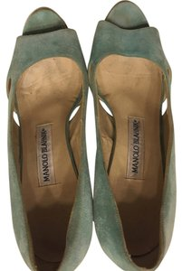 Manolo Blahnik Seafoam green/ tiffany blue Pumps